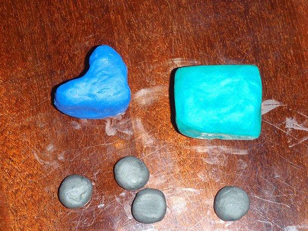 Фігурки з пластиліну - грузовик, фото 1