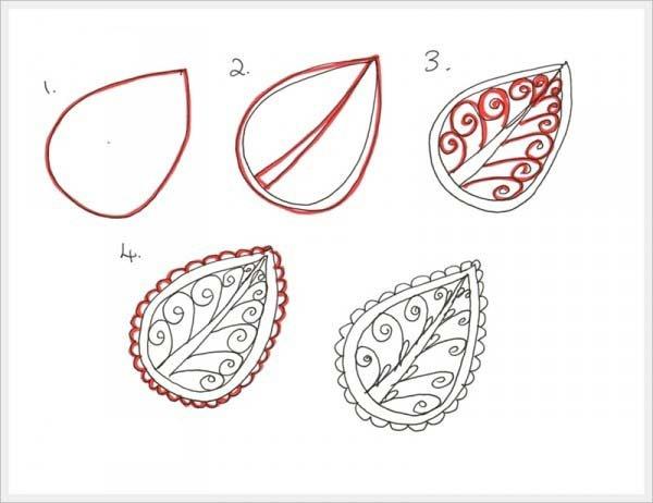 Орнамент листок