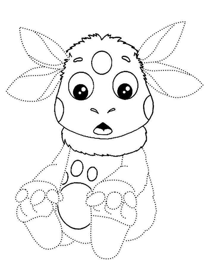 Как нарисовать Лунтика, схема 1 - фото 1