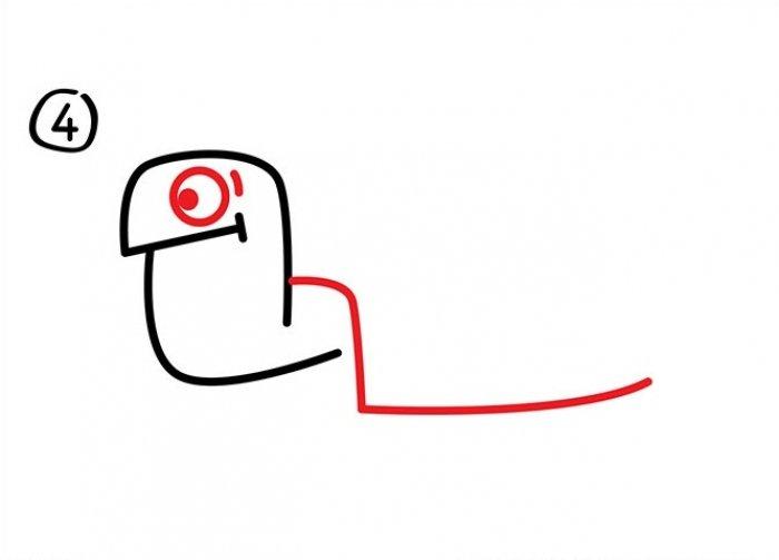 Нарисовать черепаху поэтапно - c1809