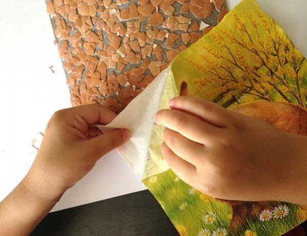 Простая мозаика из яичной скорлупы для детей, фото 8