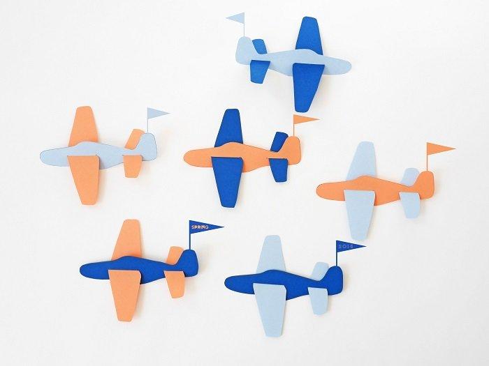 Аплікація літак з паперу