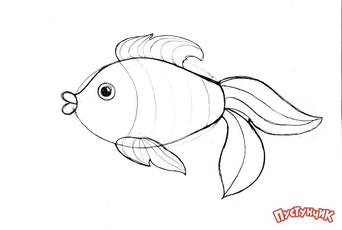 Зентангл тварини - рибка, фото 2