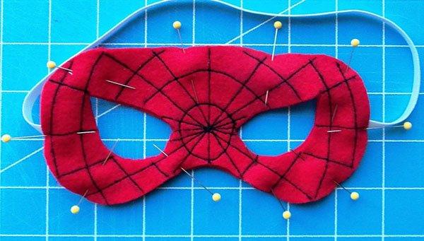 Сделать маску человека паука своими руками