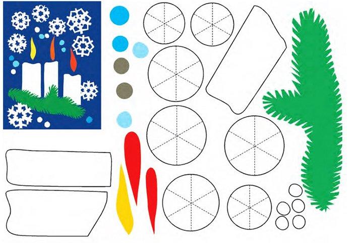 Новорічні витинанки - шаблони витинанок для дітей, фото 4