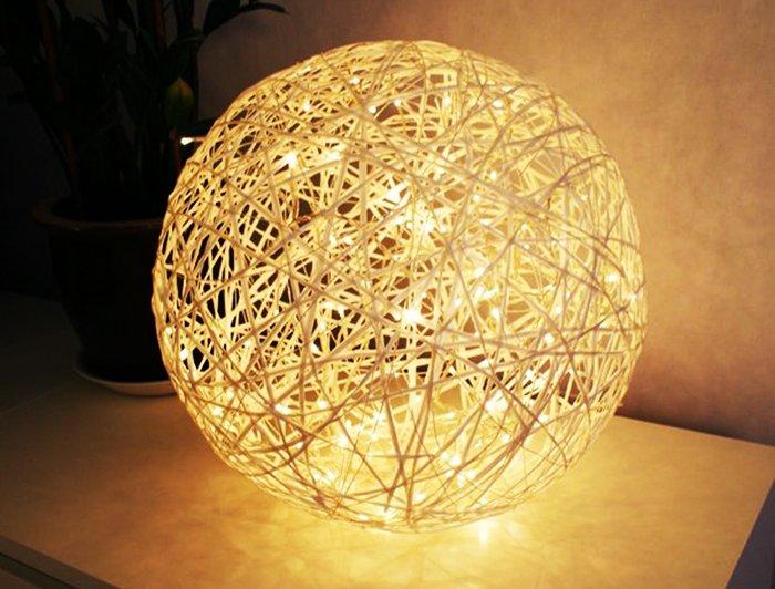 Светильник из ниток, фото 1