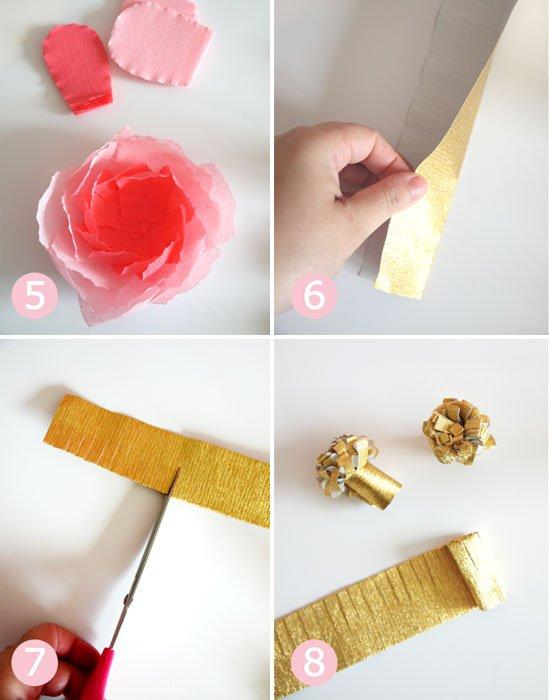 Сделать цветы из бумаги своими руками - инструкция 3