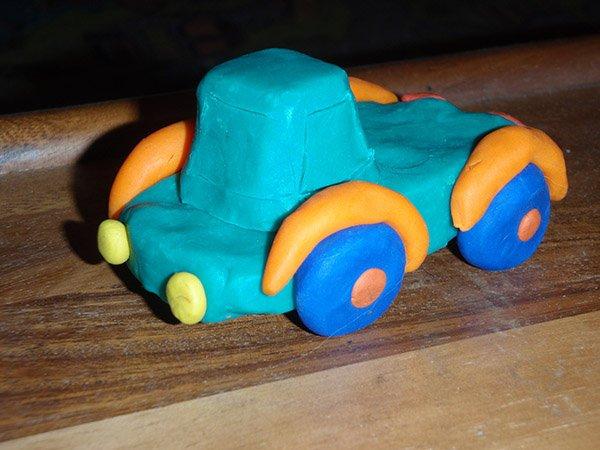 Как сделать машину из пластилина видео своими руками