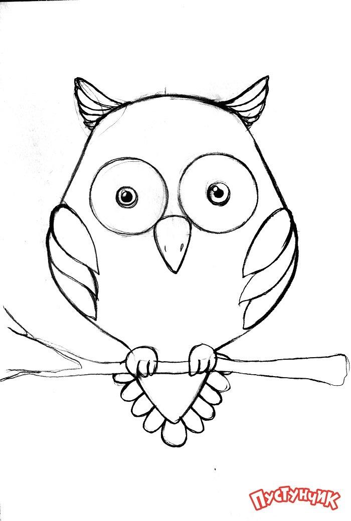Зентангл животные - сова, фото 4