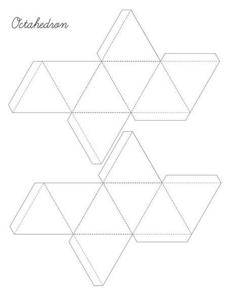 Схема октаэдра из бумаги