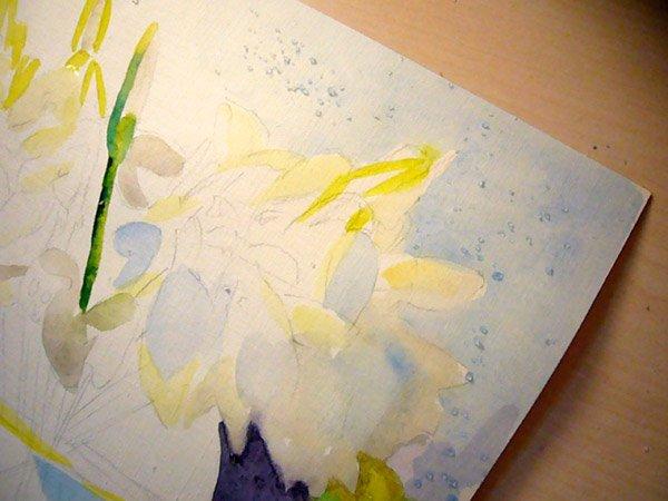 Як малювати підсніжники крок 6