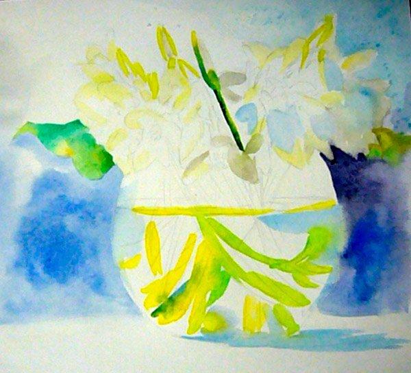 Як малювати підсніжники крок 3