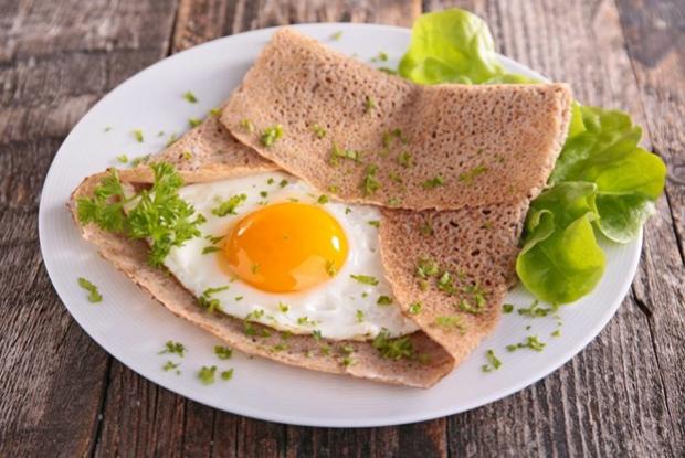 Начинка из бекона и яиц