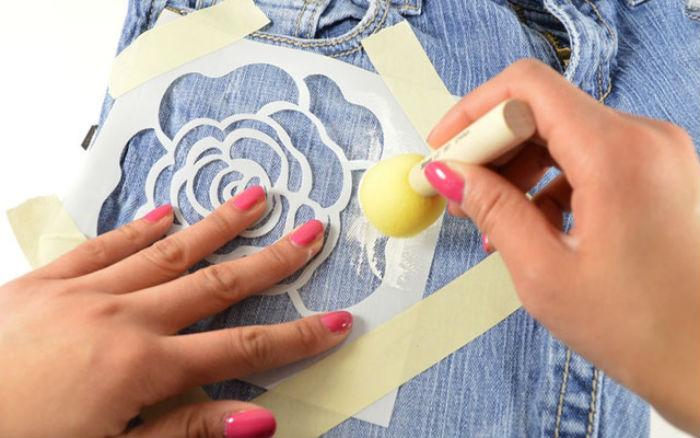 Как разрисовать джинсы