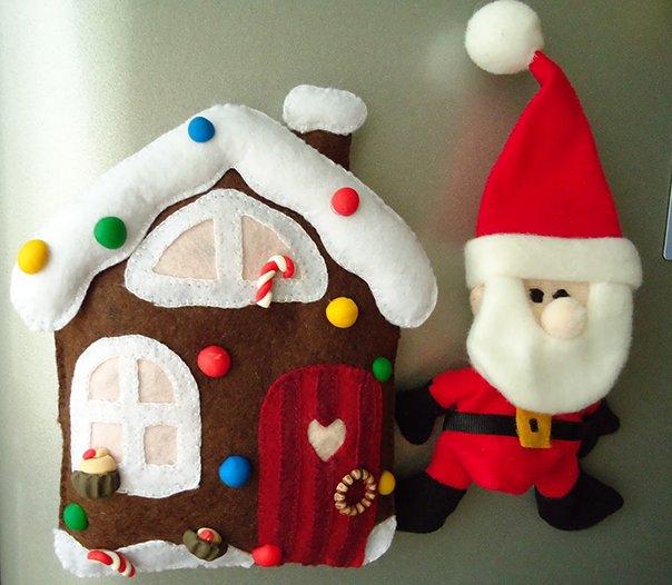 Новогодние игрушки из фетра, фото 14