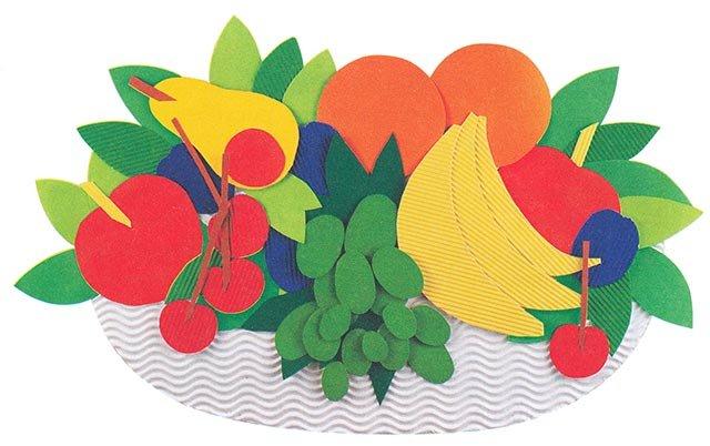 Аплікація з паперу та картону - виготовлення натюрморту, фото 2