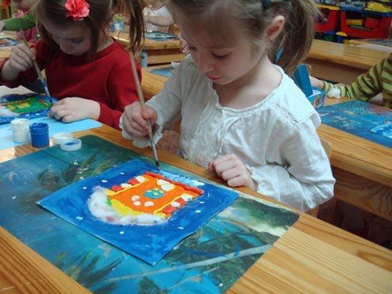 Ліплення з пластиліну в дитячому садку - будиночок, фото 7