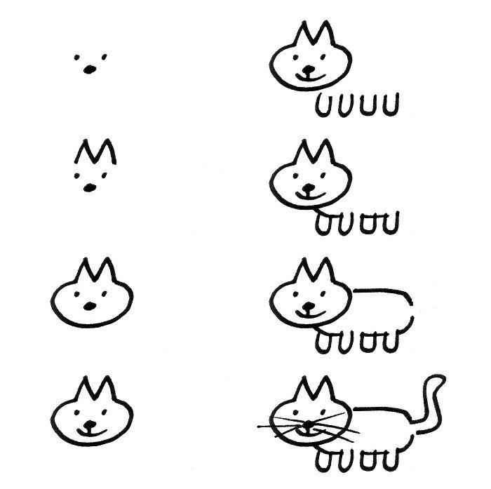 Как нарисовать котенка поэтапно, фото 17