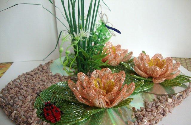 Лилии из бисера, схемы плетения - фото 16
