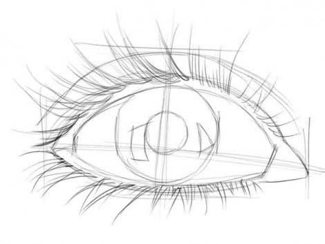 рисуем глаза этап 2