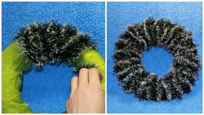 Як зробити різдвяний вінок своїми руками, фото 6