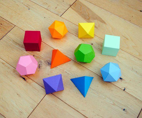 Як зробити об'ємні геометричні фігури