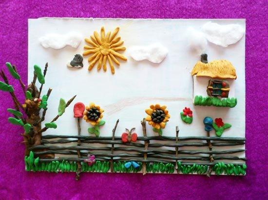 Ліплення з пластиліну в дитячому садку - парканчик, фото 6