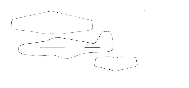 Аппликация самолет - распечатка, фото 2