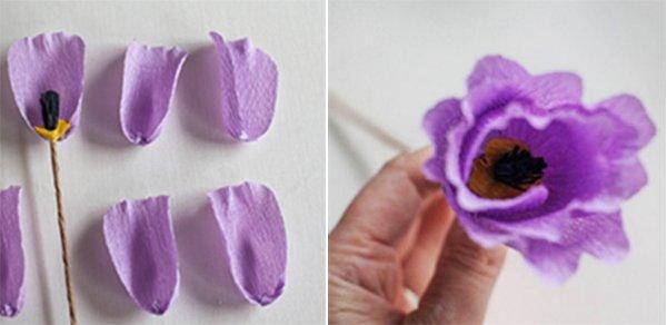 Як зробити тюльпани з гофрованого паперу – інструкція, фото 11