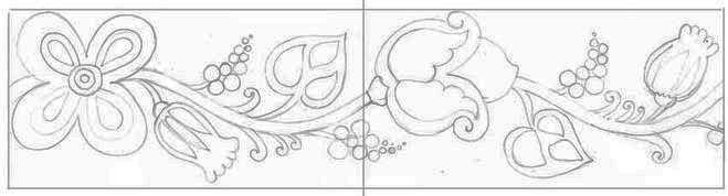Рисуем украинский орнамент шаг 4