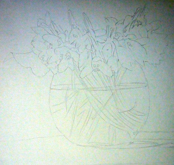 Як малювати підсніжники