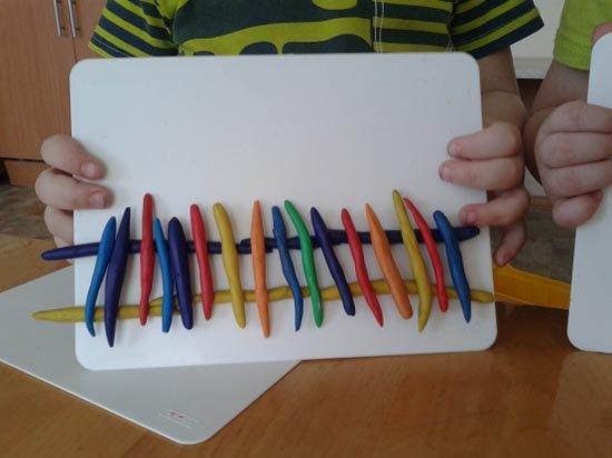 Ліплення з пластиліну в дитячому садку - парканчик, фото 5