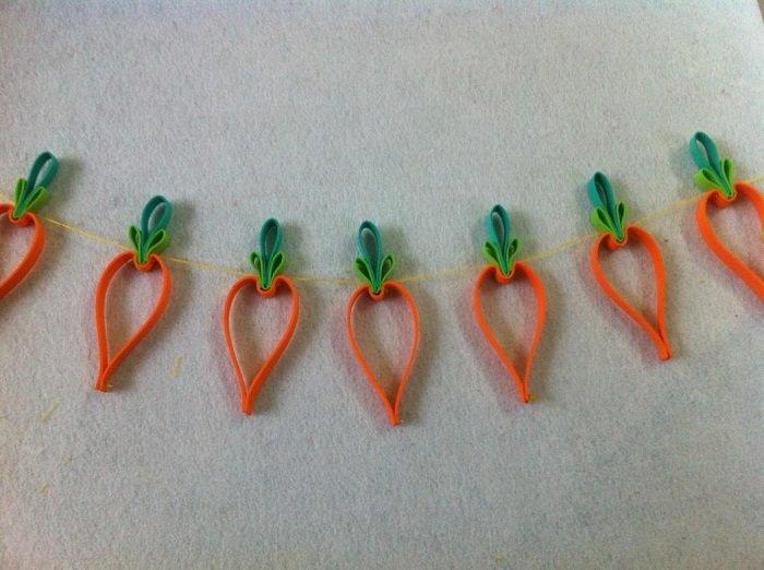 Гирлянда из фетровых морковок шаг 7