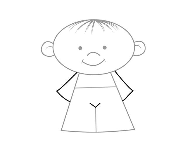 Як намалювати дітей - тіло, схема 4