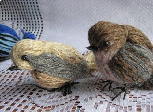 Птичка из ниток своими руками