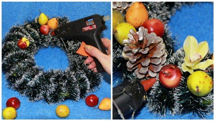 Як зробити різдвяний вінок своїми руками, фото 11