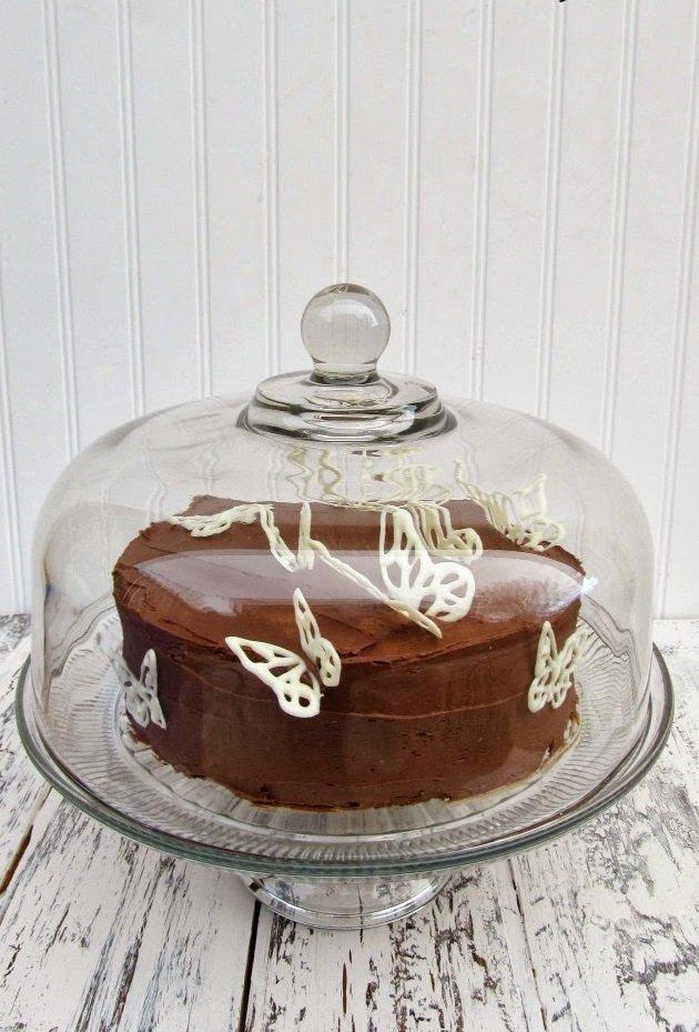Шоколадные бабочки - украшение для тортов
