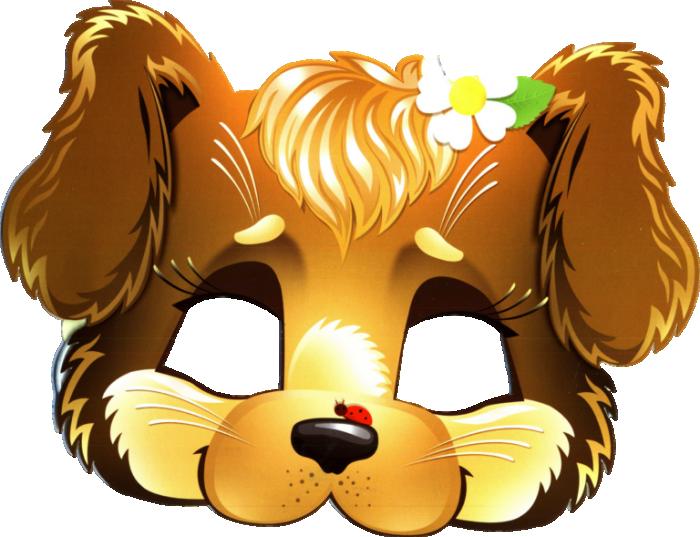 Новорічна маска собаки (песика)