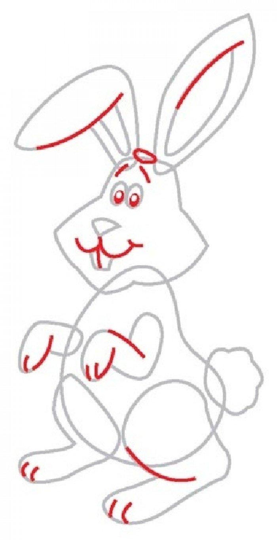 Як намалювати зайчика поетапно, фото 5