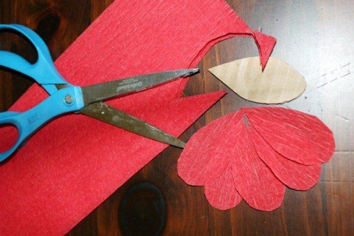 Як зробити маки з паперу