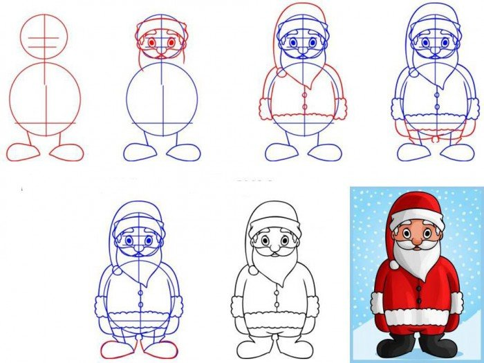 Як намалювати Санта Клауса поетапно, фото 10