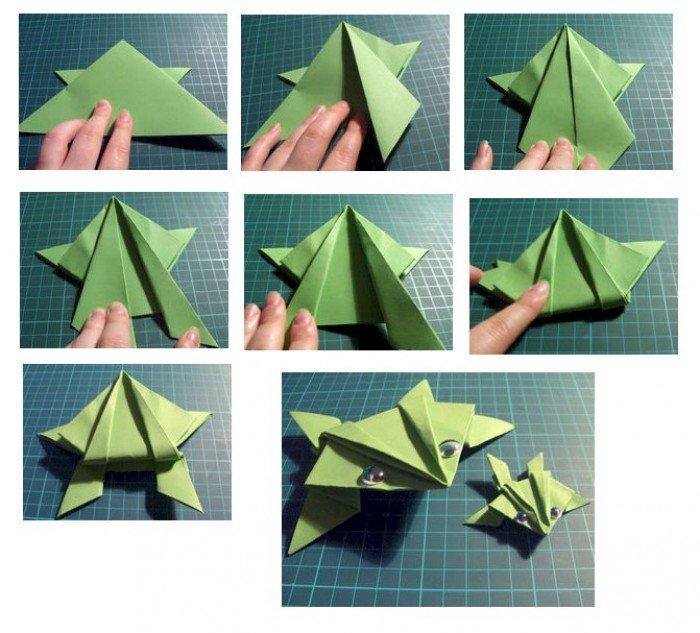 Как сделать из бумаги лягушку. Фото, инструкция