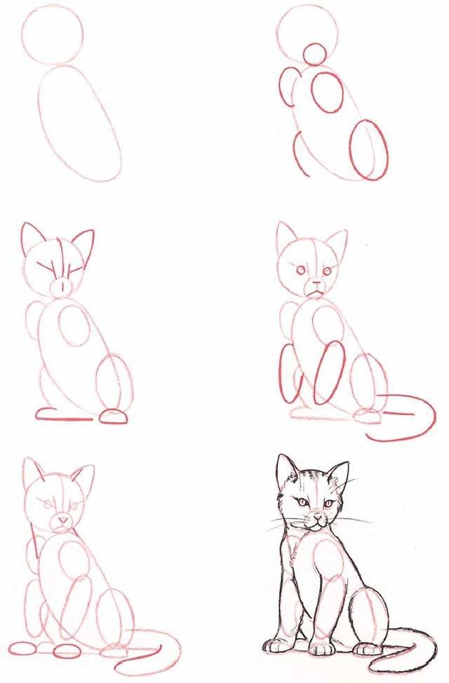 Как нарисовать котенка поэтапно, фото 10