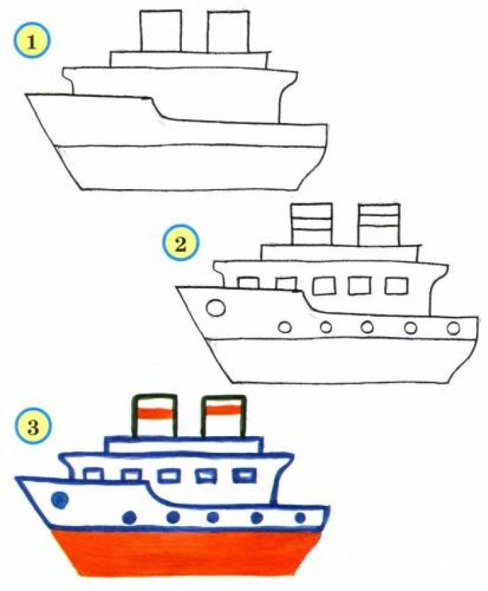 Як намалювати корабель