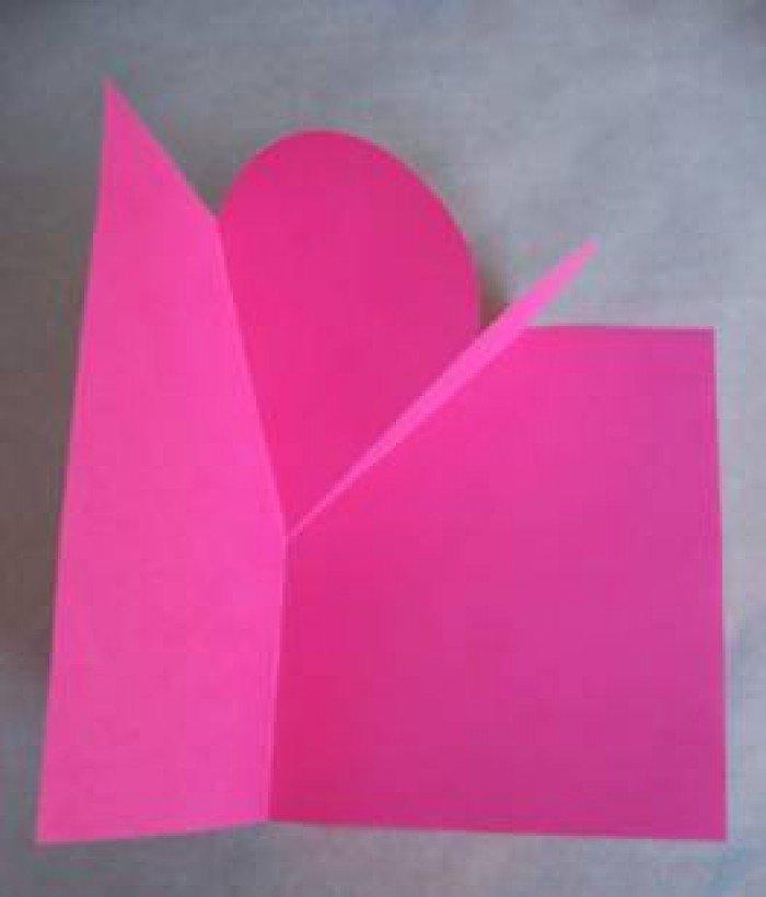 Листівка на День Святого Валентина з паперу, фото 4