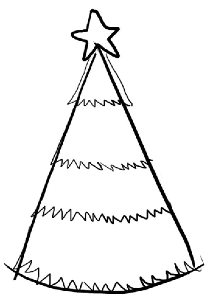 Как нарисовать елку, фото 5