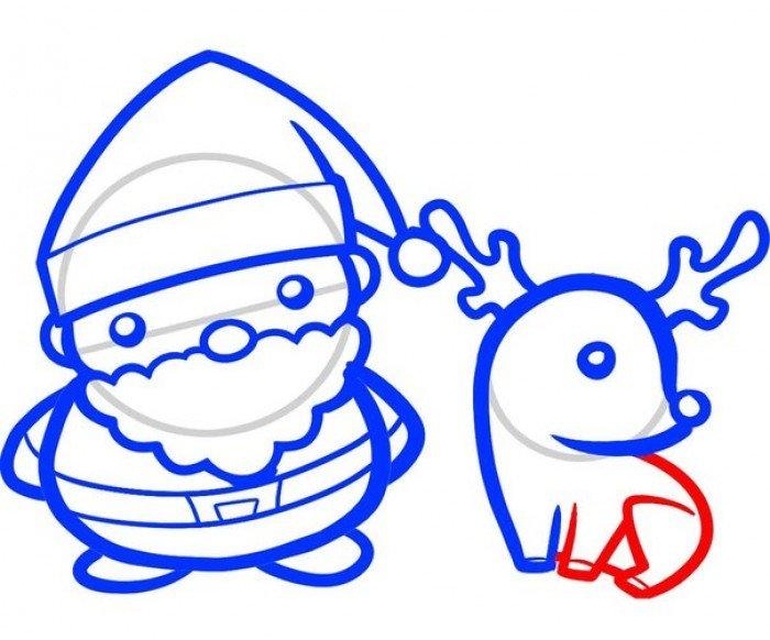 Як намалювати Санта Клауса поетапно, фото 7