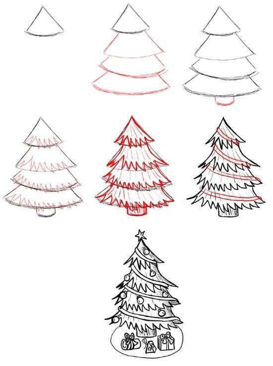 Как нарисовать елку, фото 1