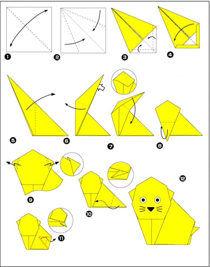 Оригами как делать поделки из бумаги 76
