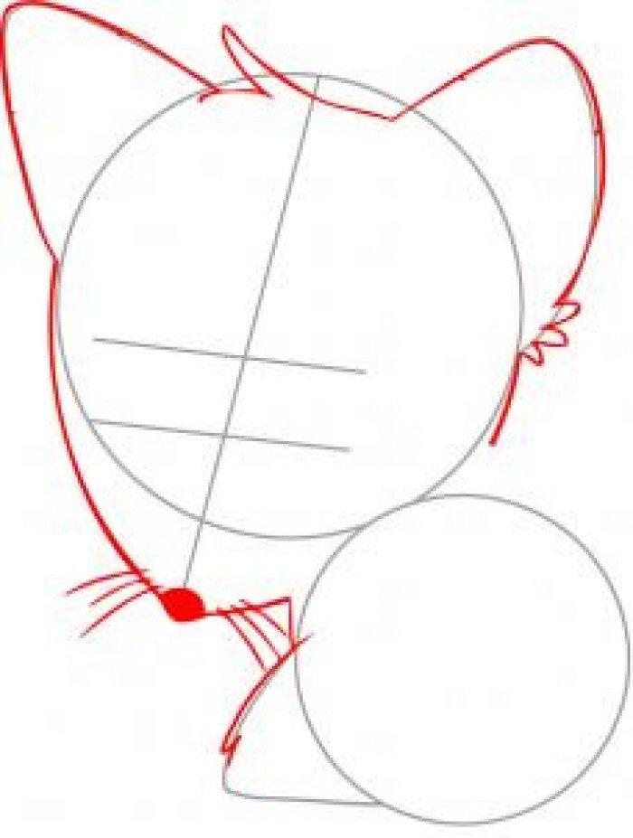 Як намалювати лисицю поетапно, фото 27
